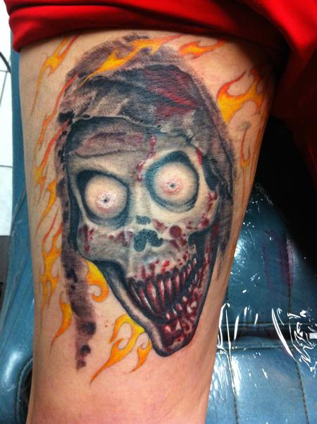 Bloody Ghoul Color Tattoo