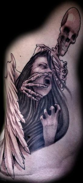 Angel and Death by Jason Frieling: TattooNOW :