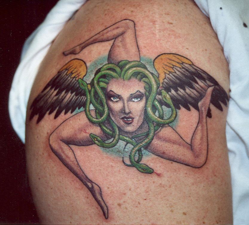 sicilian medusa by jimbo tattoonow rh tattoonow com sicilian trinacria tattoos sicilian tribal tattoos