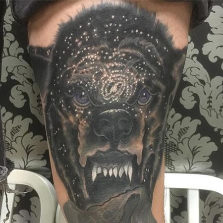 Jon clue - Galaxy wolf tattoo
