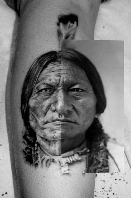 Tattoos - Sitting Bull Portrait - 94988