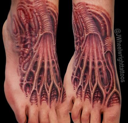 Tattoos - Bio Organic anatomical foot tattoo - 125395
