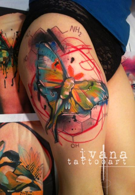 Ivana Tattoo Art - Watercolor Butterfly