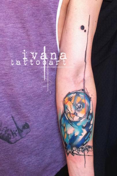 Tattoos - Funky Owl - 88987
