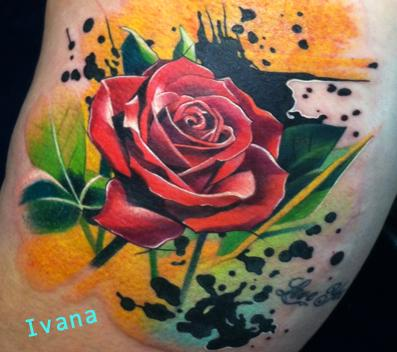 Tattoos - Rose Flower - 72712