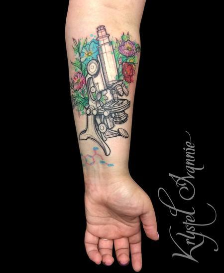 Tattoos - Vintage Microscope - 128801