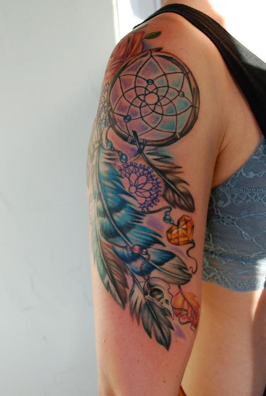 Dreamcatcher tattoo by mallory swinchock tattoonow mallory swinchock dreamcatcher tattoo gumiabroncs Image collections