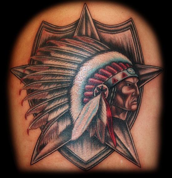 Indian Head Army Symbol By Joshua Hibbard Tattoonow