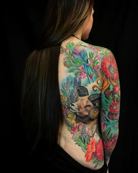 Tattoos - Nature Goddess half back/full sleeve - 129159