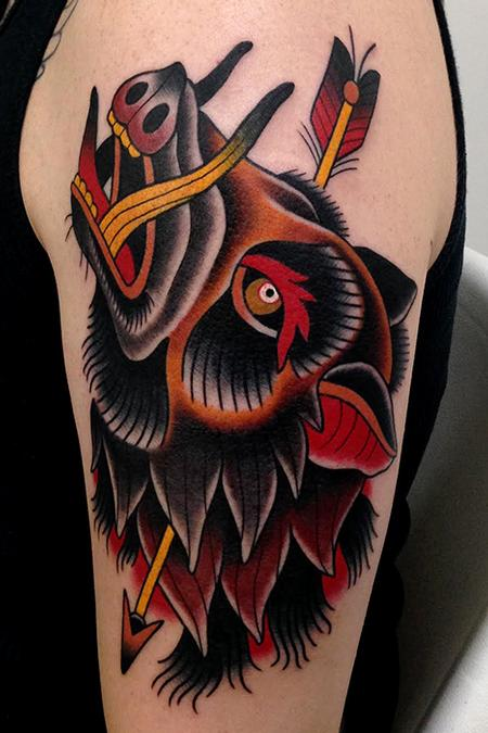 Tattoos - wild pig - 84329
