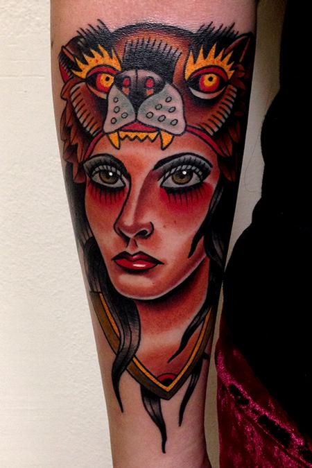 Jonathan Montalvo - bear lady tattoo