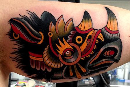 Jonathan Montalvo - war rhino tattoo