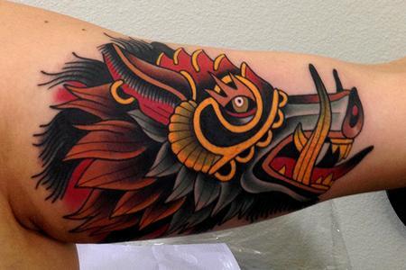 Tattoos - war pig tattoo - 79940