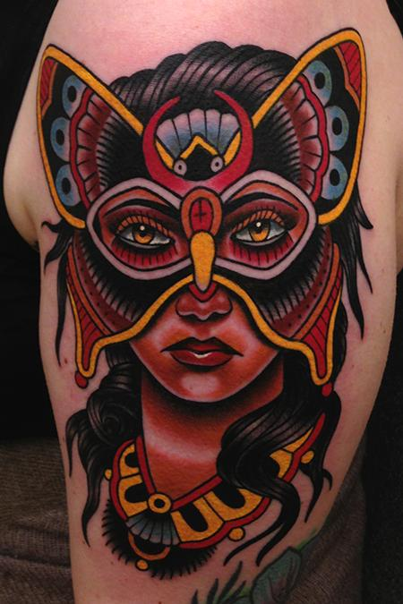 Jonathan Montalvo - butterfly mask lady tattoo