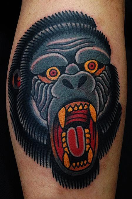 Tattoos - gorilla tattoo - 89798
