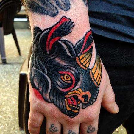 Tattoos - black rhino tattoo - 89802