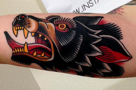 Tattoos - wolf tattoo - 89795