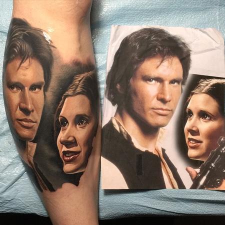 Nikko Hurtado - Han and Leia Tattoo