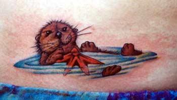 Cute Otter Tattoo By Jeffrey Tarinelli Tattoonow