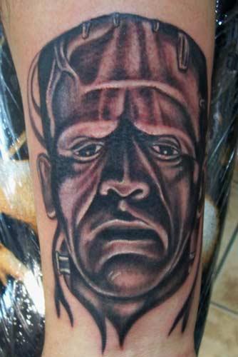 Carlos Rojas - Frankenstein Tattoo