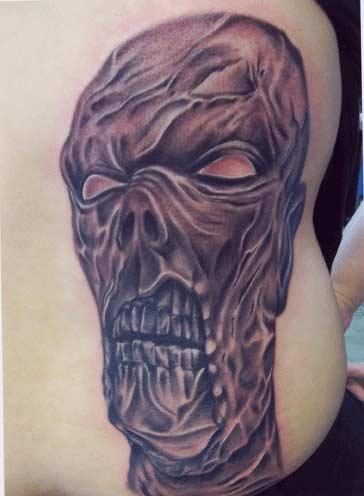 Carlos Rojas - Zombie horror tattoo