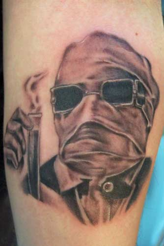 Carlos Rojas - Invisible Man Tattoo