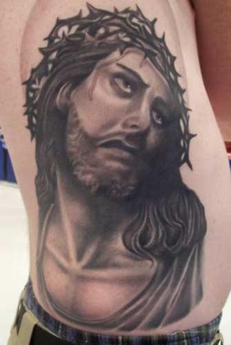 Carlos Rojas - Jesus Christ Crown of thorns tattoo