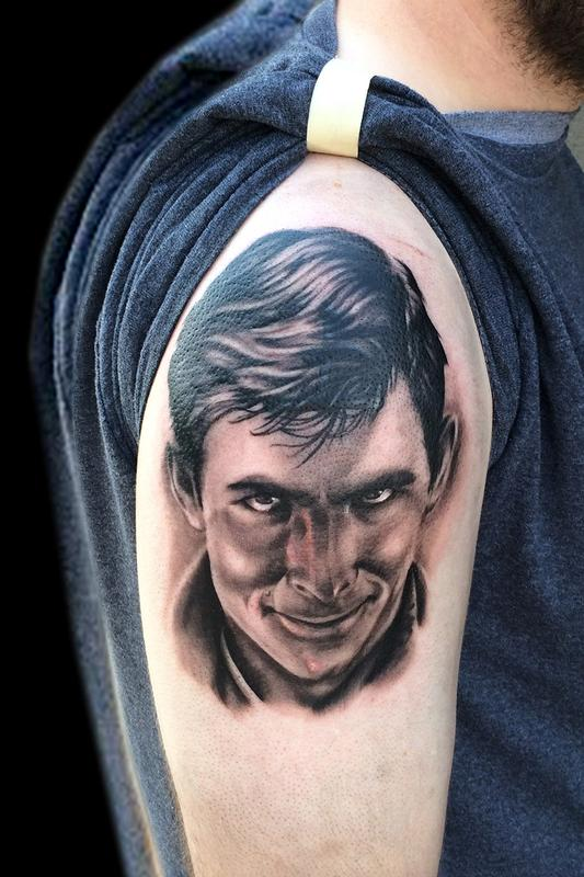 Norman bates by ricky borchert tattoonow for Tattoo shops in norman