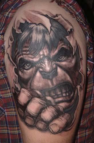 Paul Booth - Incredible Hulk Tattoo