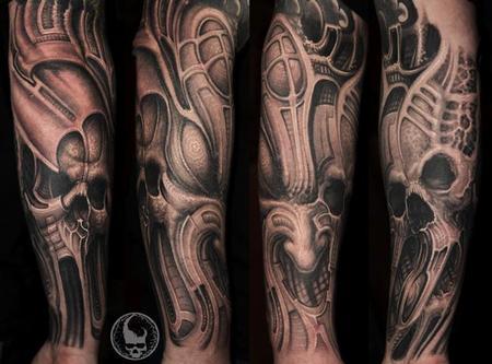 Paul Booth - Black and Grey Arm Sleeve