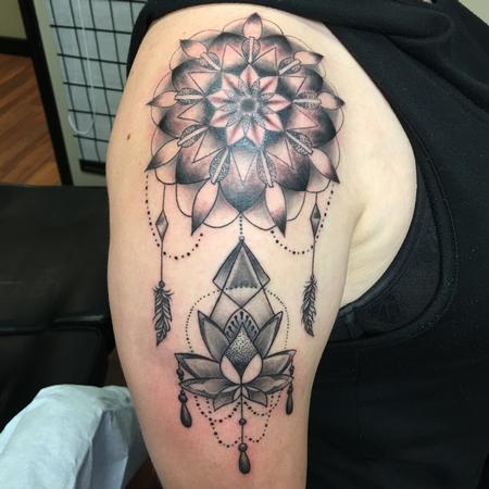 Pineapple  - mandala with lotus