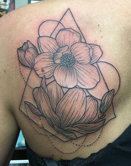 Tattoos - Line Work Flowers - 128346