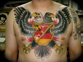 Bad Ass 2 Headed Eagle Tattoo By Kike Castillo