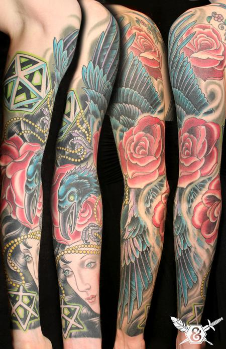 Russ Abbott - Raven and roses