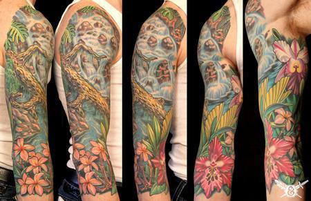 Russ Abbott - Waterfall/ flowers