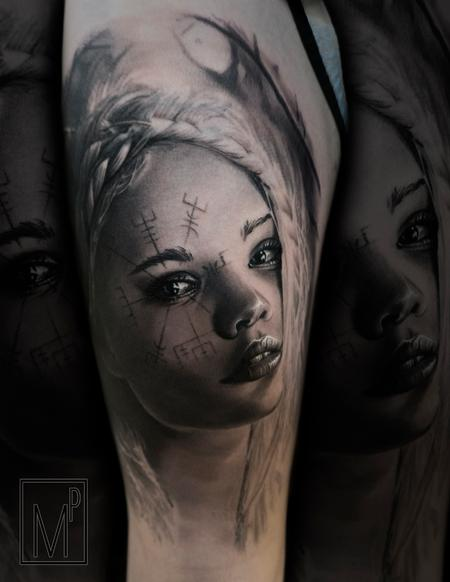Tattoos - norse woman - 133205