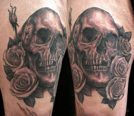 Shawn Barber - skull and roses