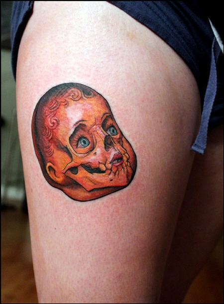 Shawn Barber - doll skull tattoo