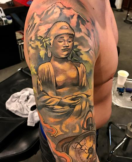 Tattoos - Damon Conklin Golden Buddha - 131226