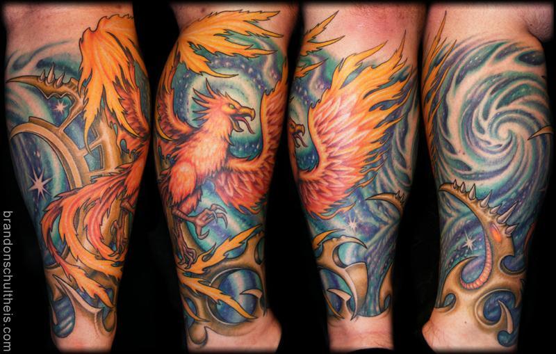 b1c8c907d Phoenix & Space Tattoo by Brandon Schultheis: TattooNOW :