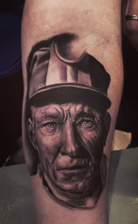 Tattoos - Portrait of a miner - 119139