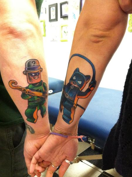Brian Gilley - Lego Batman Couples Tattoo Catwoman Riddler