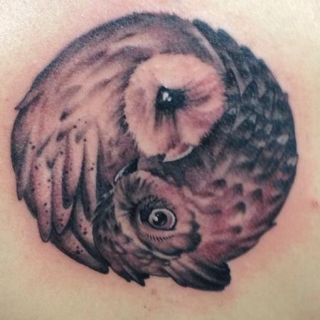 Tattoos - Yin Yang Owls - 115950