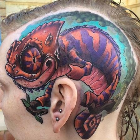 Color Head Tattoo Design Thumbnail