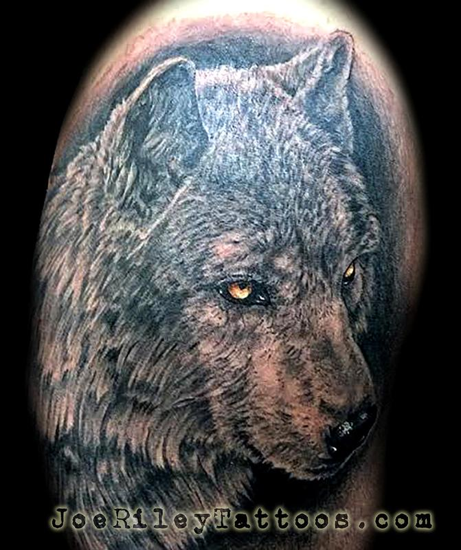 Wolf Tattoo by Joe Riley: TattooNOW :