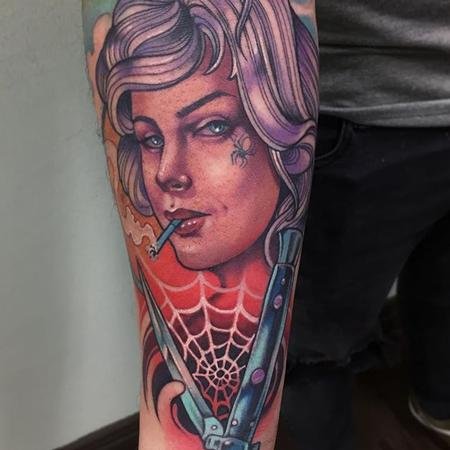 Tattoos - Spider lady tattoo - 133092