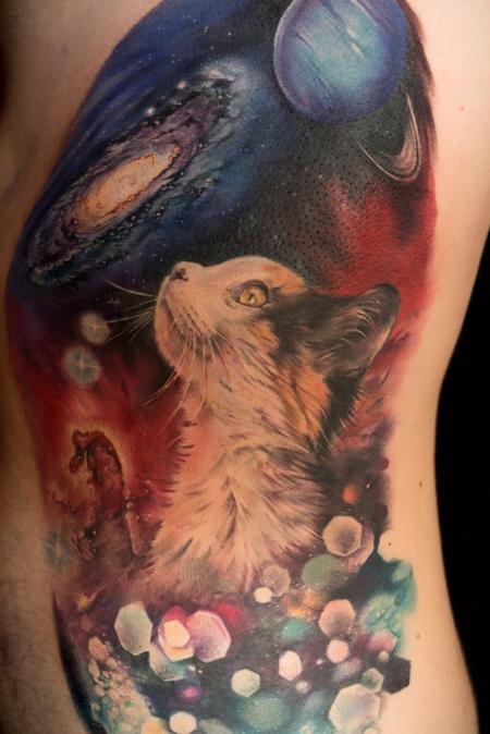 Tattoos - space cat - 115760