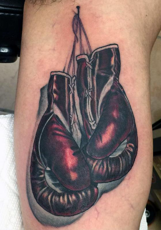boxing gloves by mikey har tattoonow rh tattoonow com boxing gloves tattoo designs boxing gloves tattoos for women