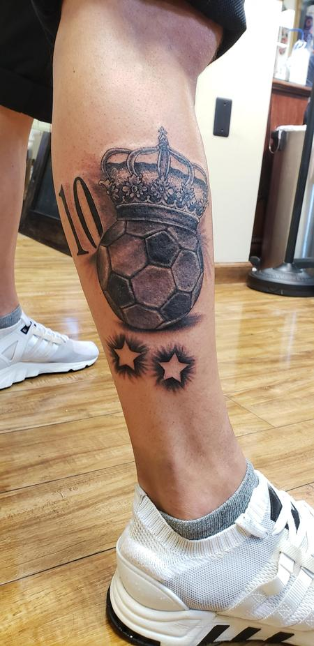 Tattoos - Soccer number 10  - 134858