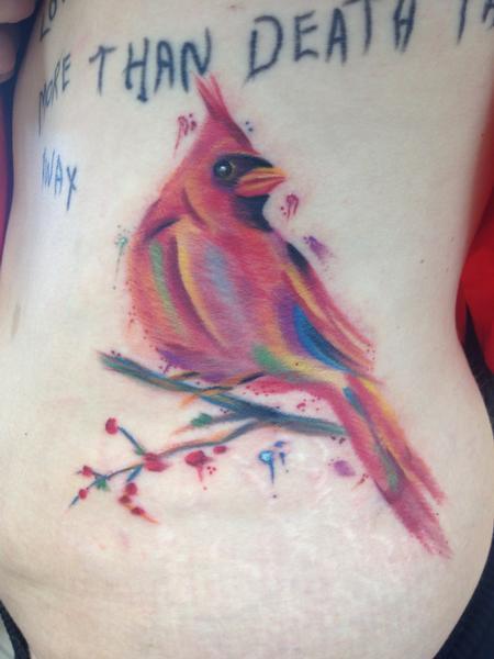 Watercolor Cardinal Tattoo: Altered Images : Tattoos : Lazlow : Cardinal